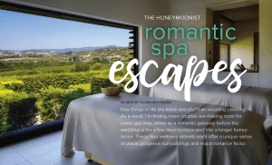 spa honeymoon ideas