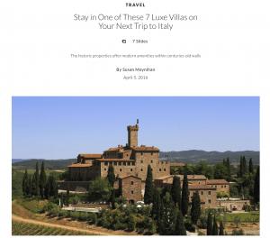 luxe villa rentals italy