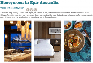 honeymoon in epic austrailia